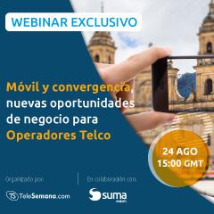 SUMA móvil expondrá, en el próximo webinar con Telesemana, el papel clave que brinda el móvil para los Operadores Telco